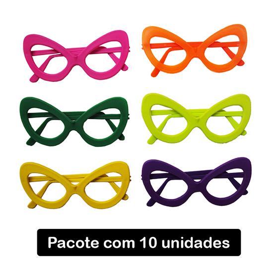 Óculos Gatão sem Lentes - 10 unidades