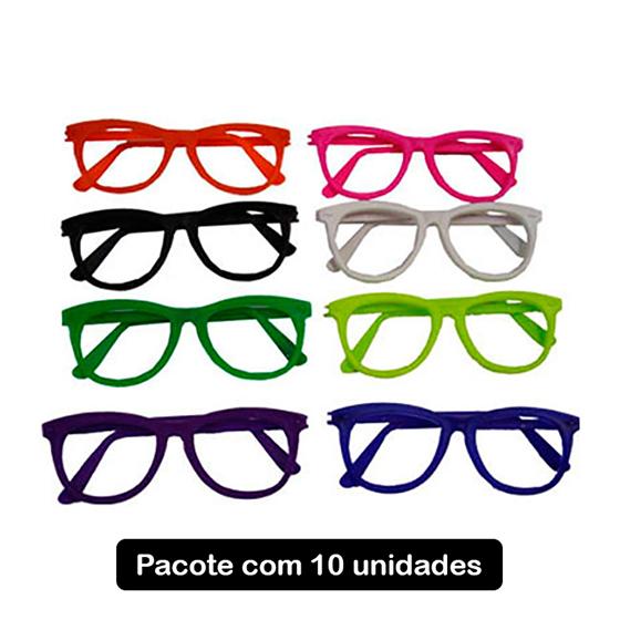 Óculos Nerd sem Lentes - 10 unidades