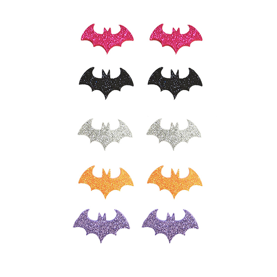 Aplique Halloween Morcego EVA Glitter - 10 unidades