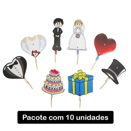 Palito Casamento - 10 unidades