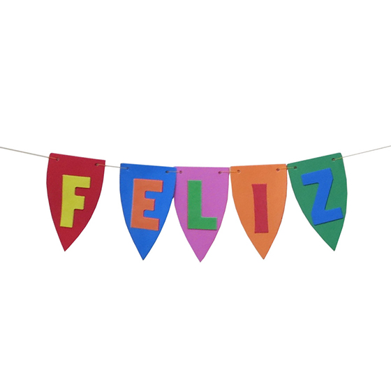 Flâmula Feliz Aniversário em EVA