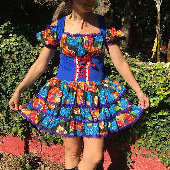 Vestido Festa Junina Adulto
