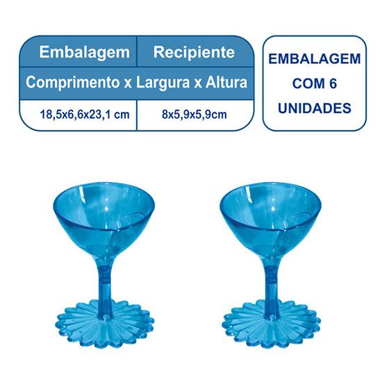 Mini Taça Paris Azul - 6 unidades