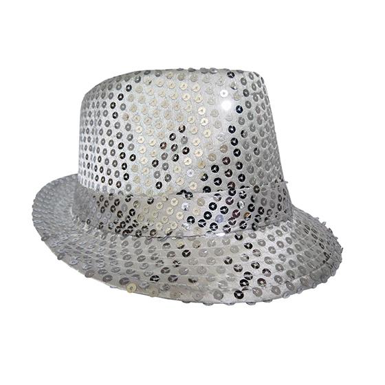 Chapéu Gafieira Luxo Prata