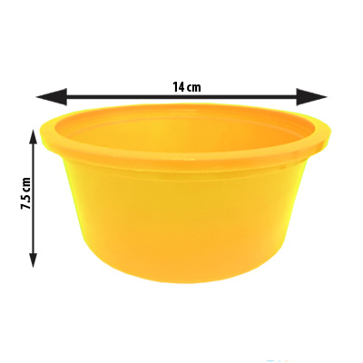 Balde Redondo Grande Amarelo