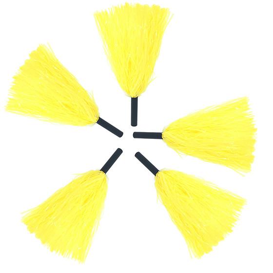 Pompom Mamãe Sacode de Rafia Amarelo