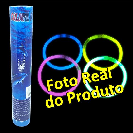 Tubo de Pulseiras Neon - 50 unidades