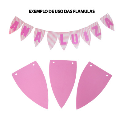 Flâmula em EVA Rosa Bebê - 5 unidades