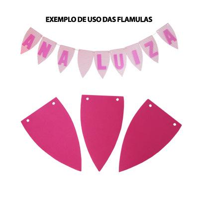 Flâmula em EVA Rosa Pink - 5 unidades