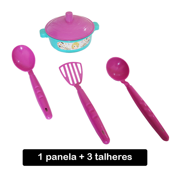 Kit Mini Panela com 3 Talheres