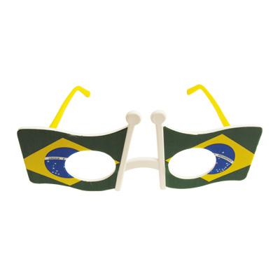 Óculos Bandeira Brasil sem Lente - 10 unidades