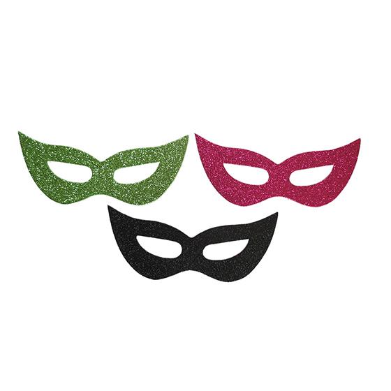 Máscara Carnaval Eva com Glitter - 3 unidades
