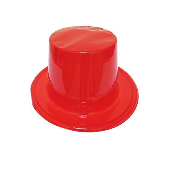 Cartola Mágico Plástica Vermelha
