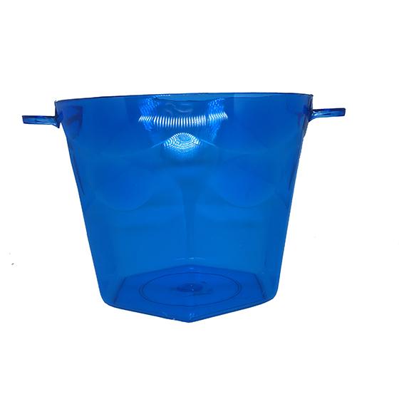 Balde de Gelo Azul Transparente