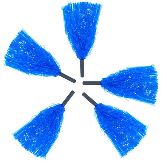 Pompom Mamãe Sacode de Rafia Azul
