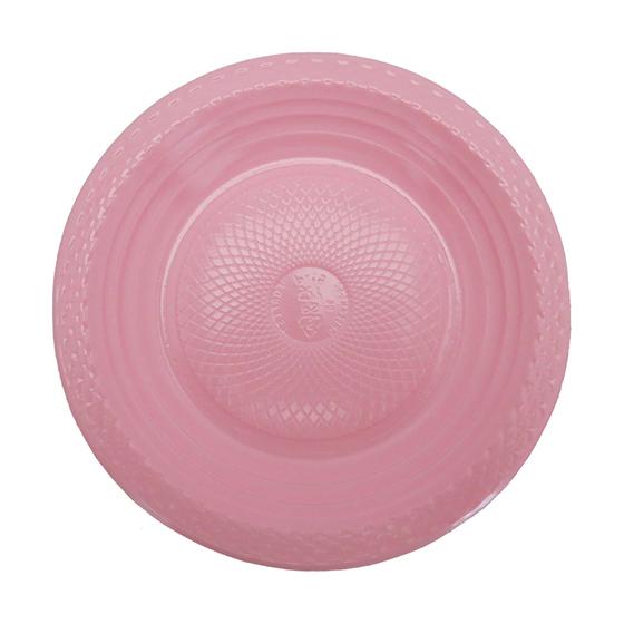 Prato de Bolo Descartável 15 cm Rosa - 10 unidades