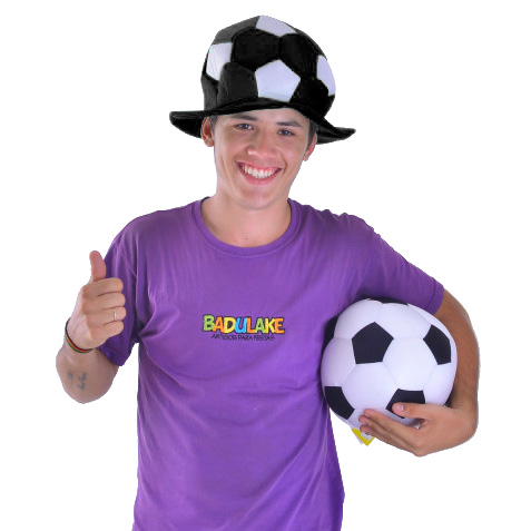 Chapéu Bola Times de Futebol Preto e Branco