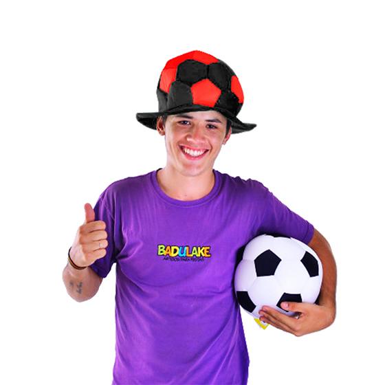 Chapéu Bola Times de Futebol Vermelho e Preto