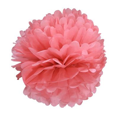 Balão Pompom de Seda Grande Rosa