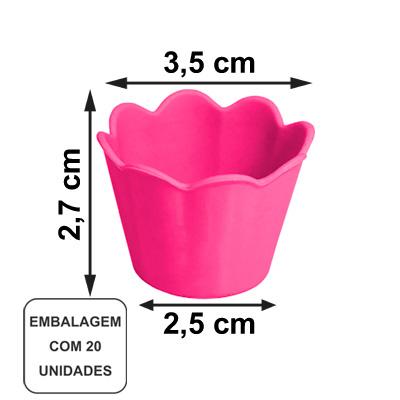 Mini Pote Girassol Rosa Chiclete - 20 unidades
