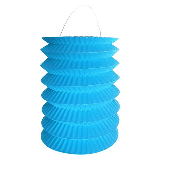 Lanterna Pequena Sanfonada Azul