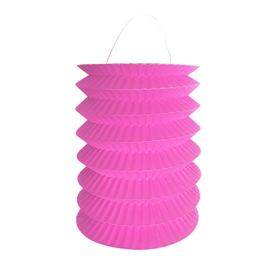Lanterna Pequena Sanfonada Rosa
