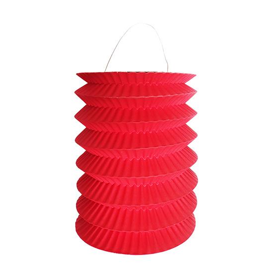 Lanterna Pequena Sanfonada Vermelha