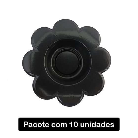 Forminha para Doce Flor Preta C/10