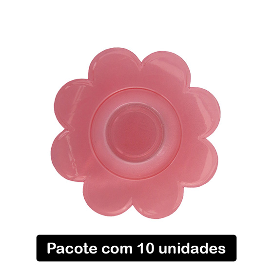 Forminha para Doce Flor Vermelha C/10