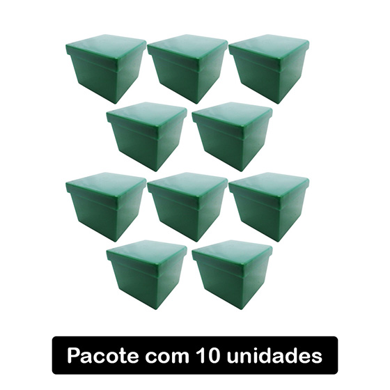 Caixinha Acrílico 4x4 Leitosa Verde Folha C/10