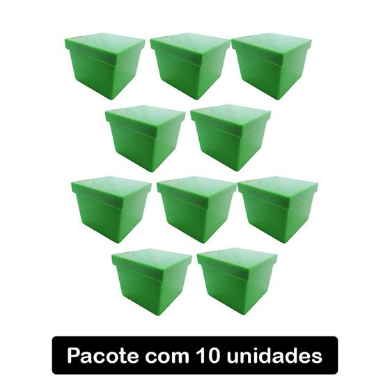 Caixinha Acrílico 4x4 Leitosa Verde Maçã C/10