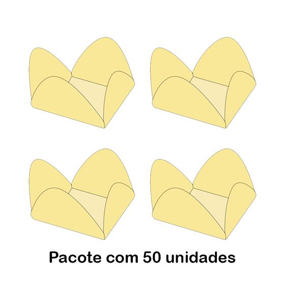 Forminha Flor para Doce Modelo 5 Creme - 50 unidades