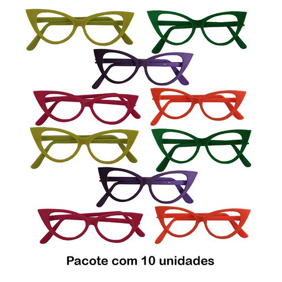 Óculos Gatinho Luxo - 10 unidades