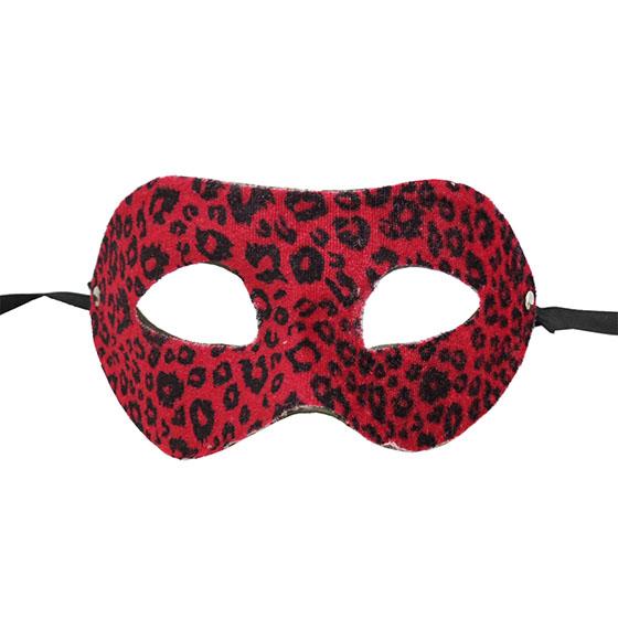Máscara Veneza Felinas Luxo Onça Vermelha