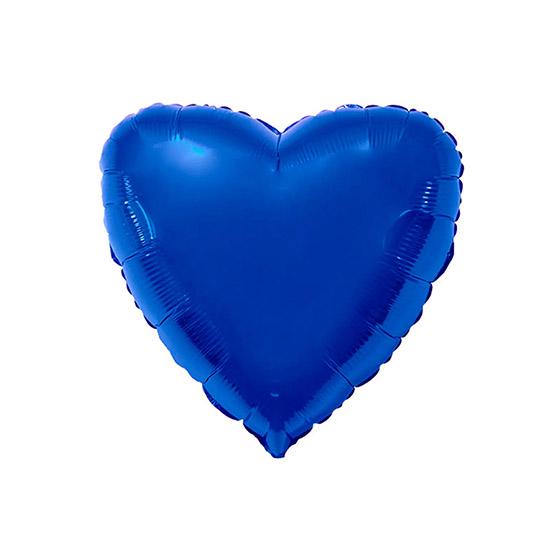 Balão Metalizado Coração 20'' Polegadas Azul