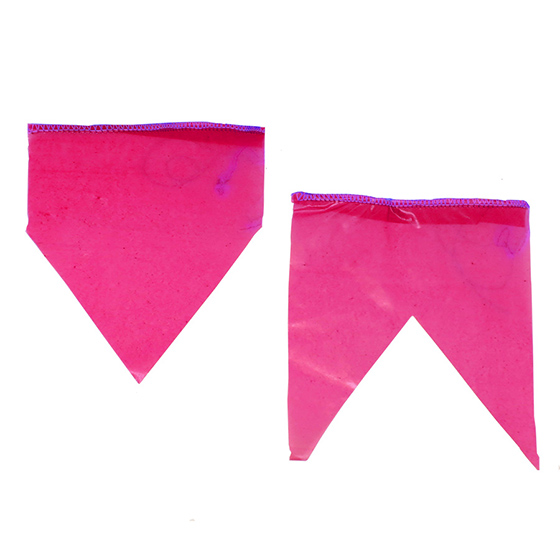 Bandeirinha de Festa Junina Plástico com 10 metros - Rosa