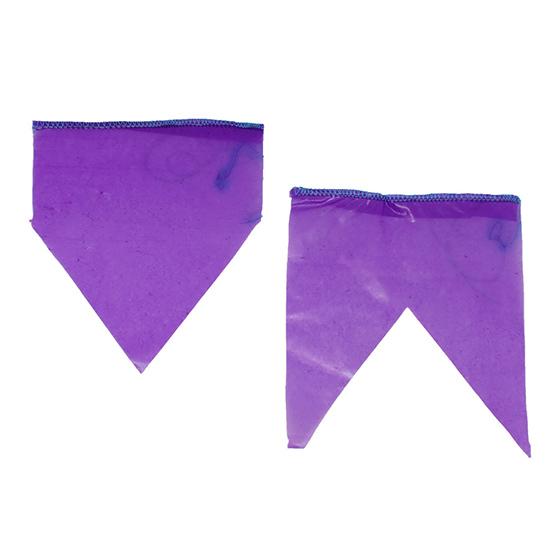 Bandeirinha de Festa Junina Plástico com 10 metros - Roxa