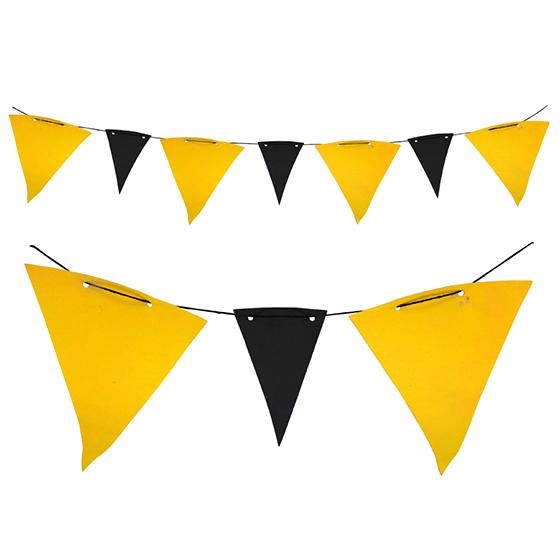 Bandeirola TNT Preta e Amarela - 5 metros