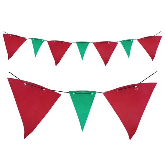 Bandeirola TNT Verde e Vermelha - 5 metros