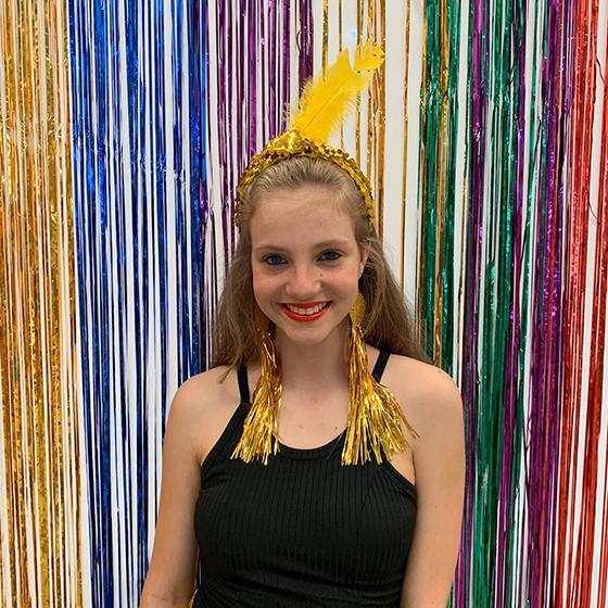 Brinco Carnaval Dourado - Modelo 2