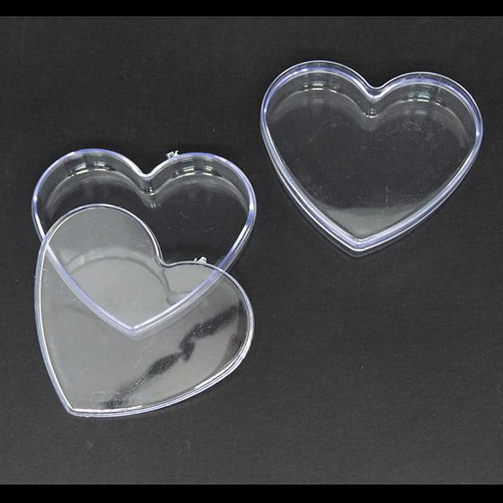 Caixinha Coração Transparente - 10 unidades