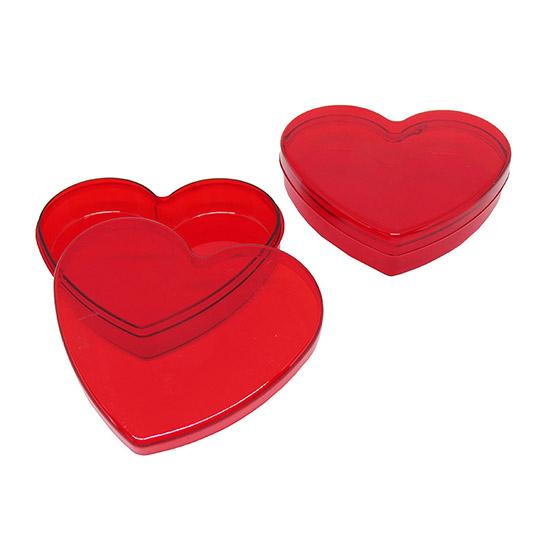 Caixinha Coração Vermelha Translúcida - 10 unidades
