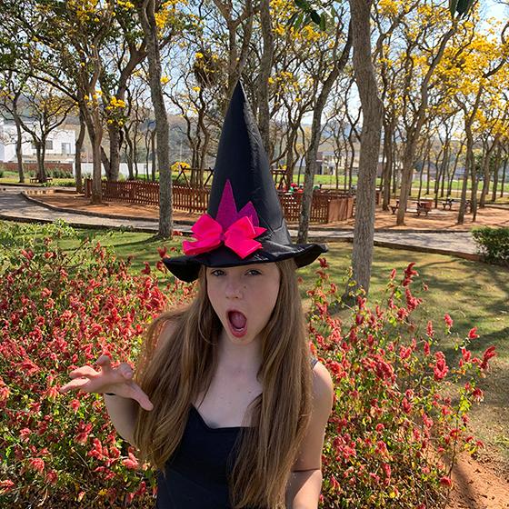 Chapéu de Bruxa Unicórnio Rosa