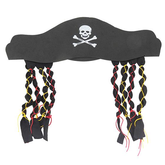 Chapéu Pirata com Tranças