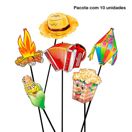 Palito Decoração de Festa Junina - 10 unidades