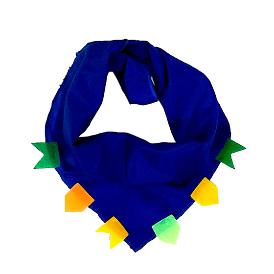 Lenço Junino Azul Luxo