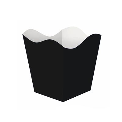 Cachepot Pequeno Liso Preto - 10 unidades