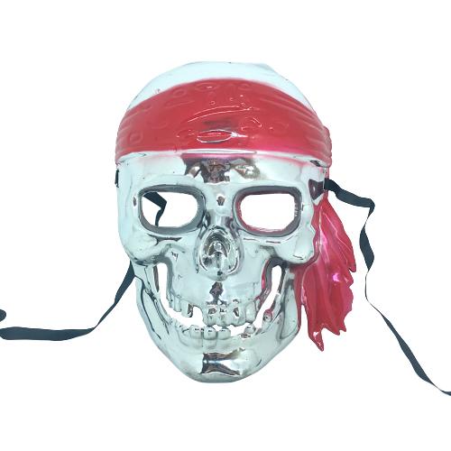 Máscara Pirata Caveira Prata