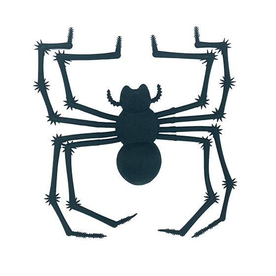Aranha de Borracha Viúva Negra Preta Decoração Halloween