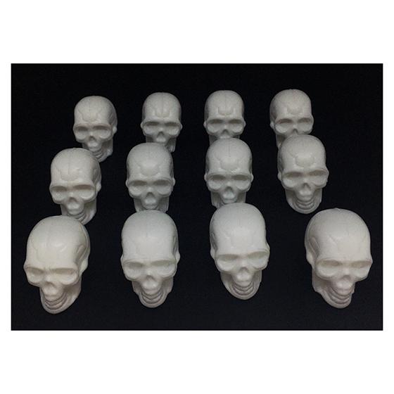 Mini Crânio Esqueleto Branco Decoração Halloween - 12 unidades